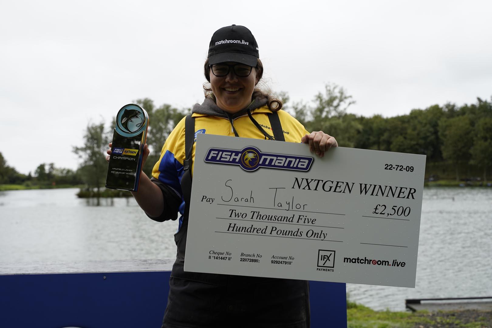 SARAH TAYLOR IS FISHOMANIA NXTGEN CHAMPION